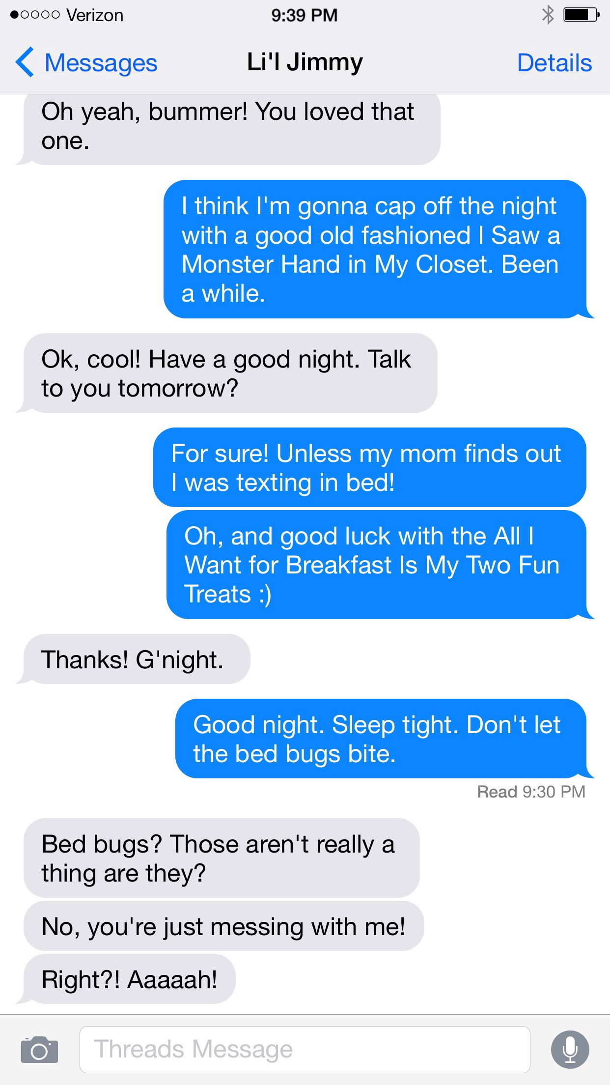 Texts Between Toddlers: Bedtime Edition - Dudemesticated Life
