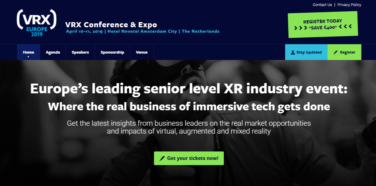 Upcoming 2019 1H VR, AR & MR-Related Events & Conferences to