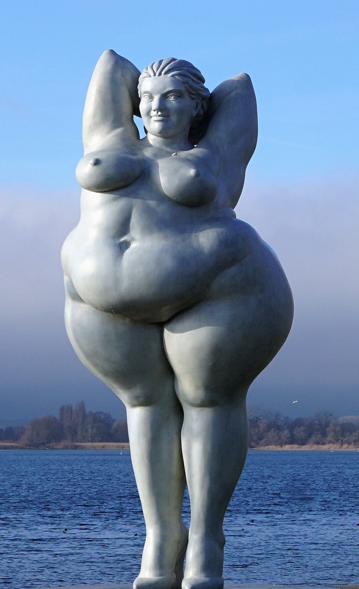 Sculpture in Germany of very beautifully fat woman
