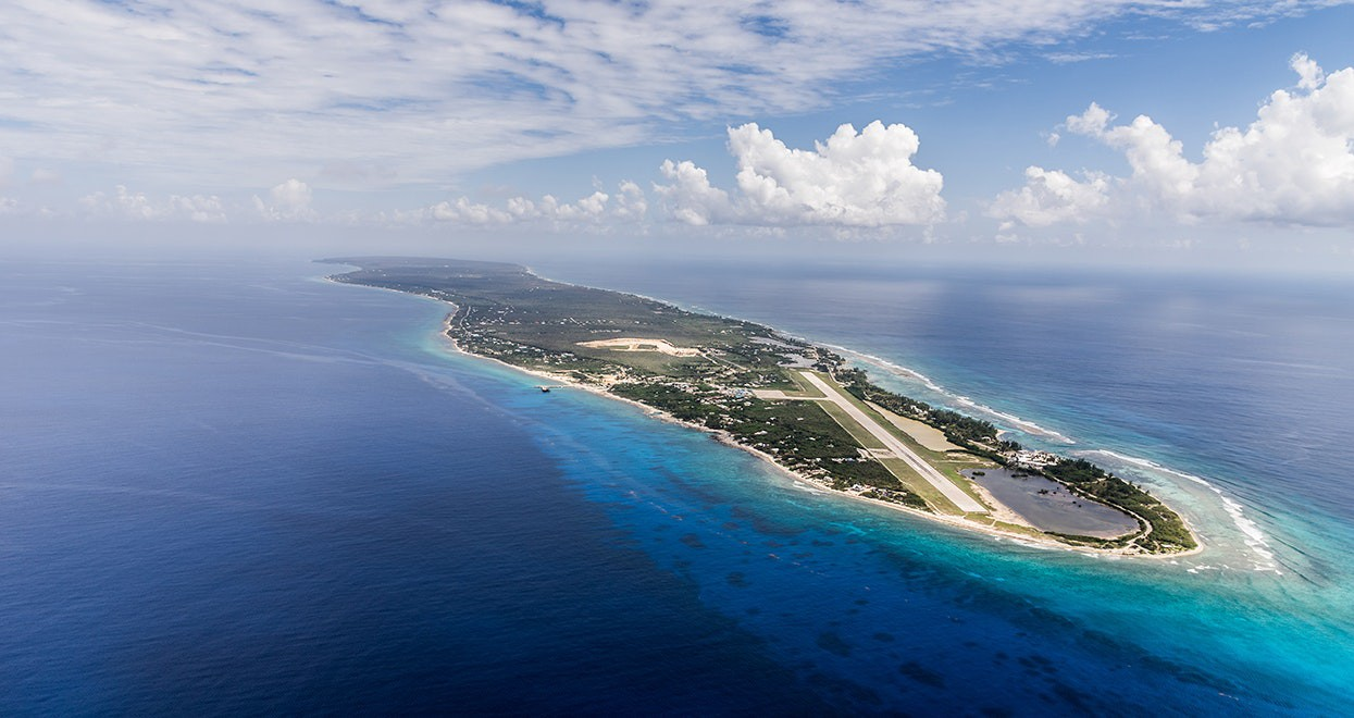 Aerial view of Grand Cayman, Cayman Islands