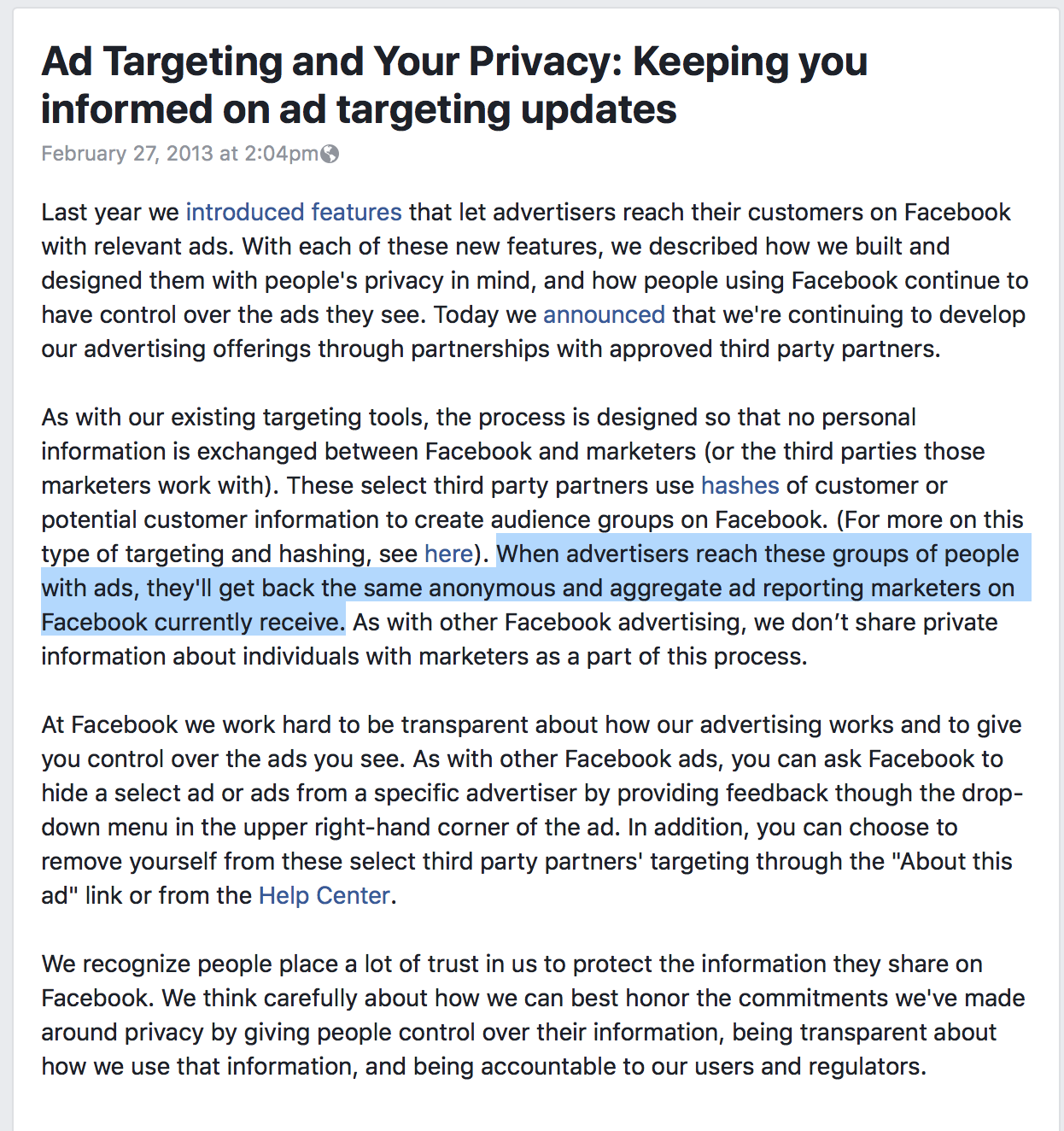 Facebook's Ad Tool Can Be Used For Covert Surveillance