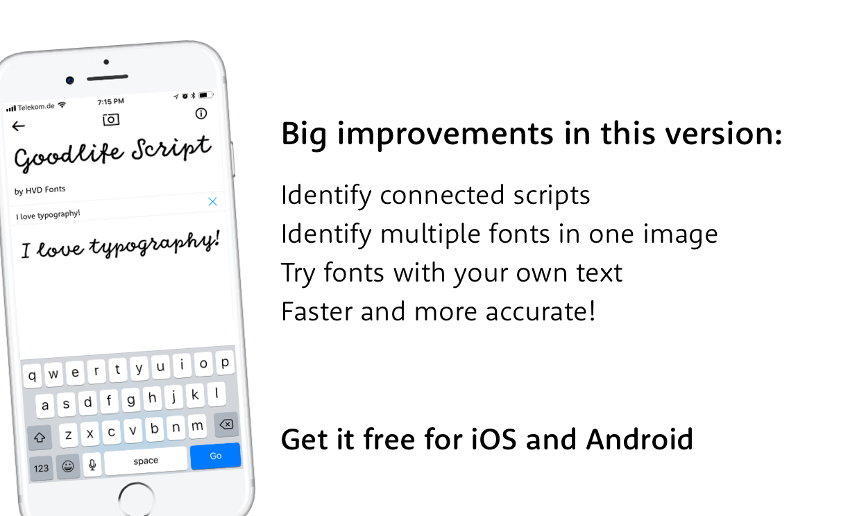 Shazam for fonts! Identify fonts with your camera