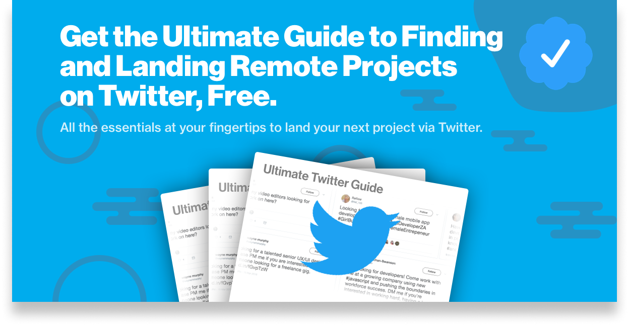 Find remote front-end freelance jobs on Twitter