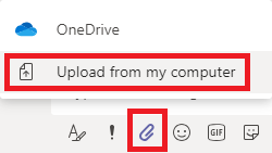 Microsoft Teams upload from my computer