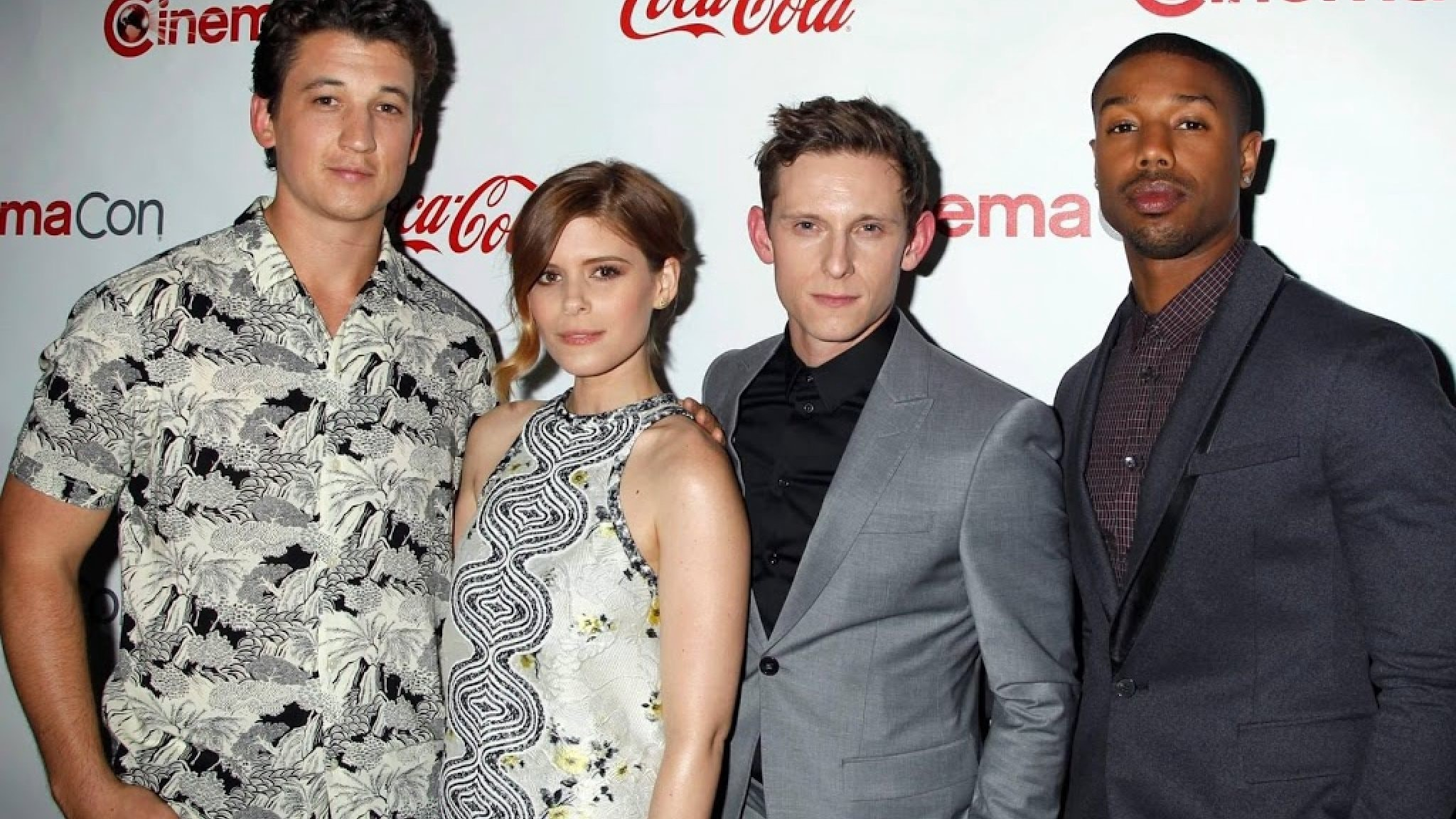 The  Fantastic Four cast in happier times (before seeing the movie)