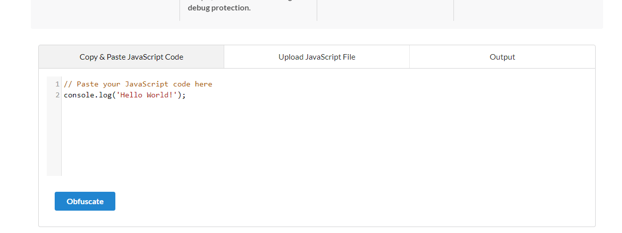 Creating an Obfuscator for Javascript files - Uddhav