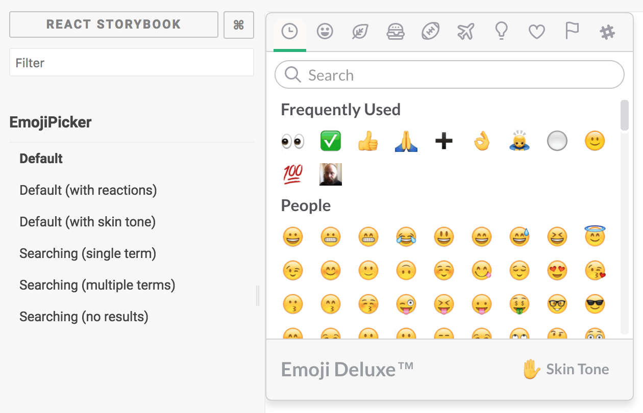 Rebuilding Slack's Emoji Picker in React - Several People