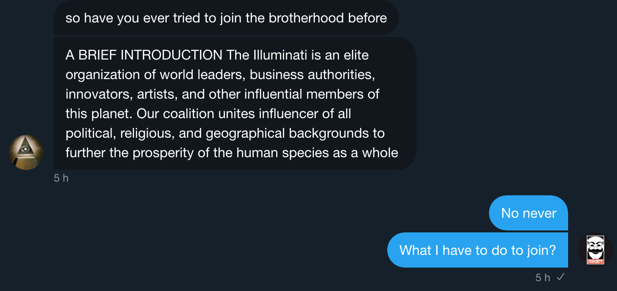 How I became a member of the Illuminati on Twitter - Elliot
