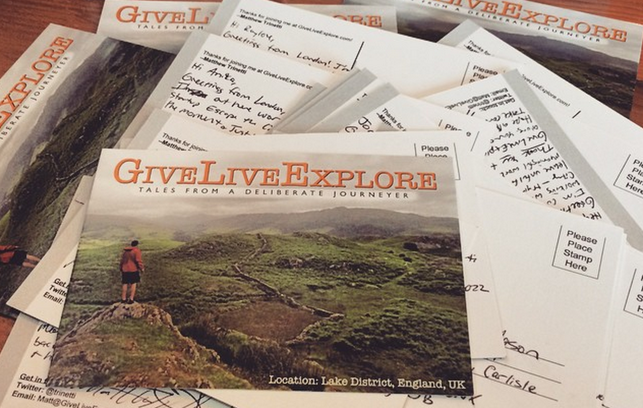 Why I've sent hundreds of postcards to strangers around the
