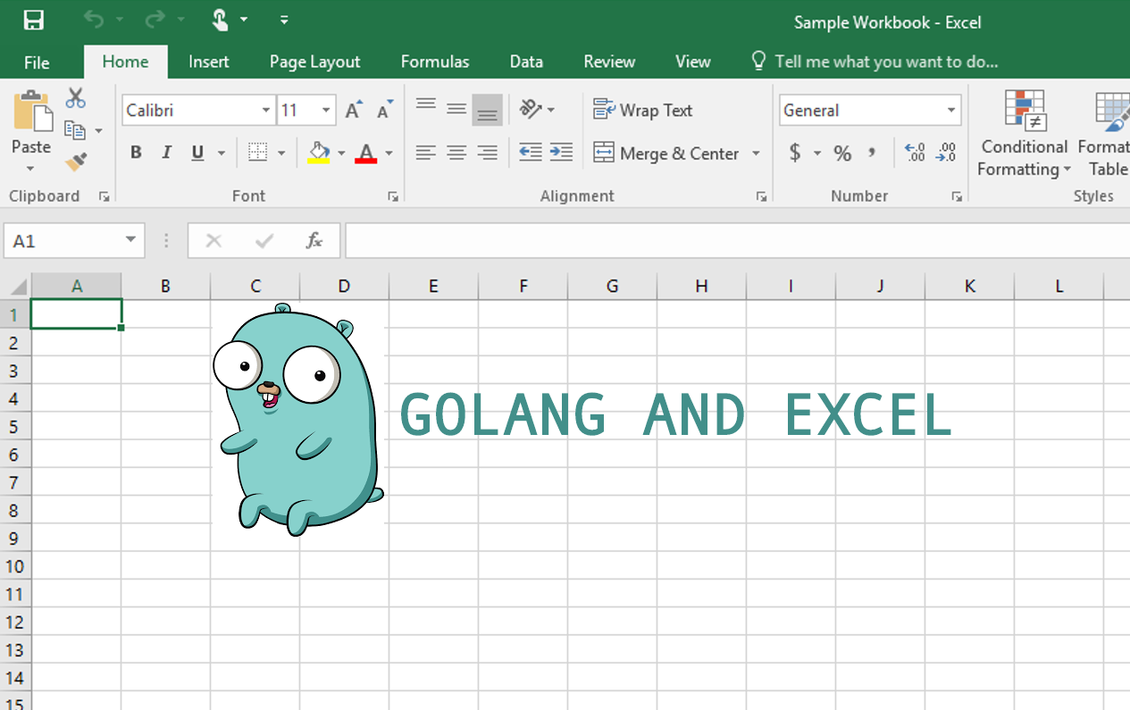 Using Golang to Read and Create Excel files - cloud native