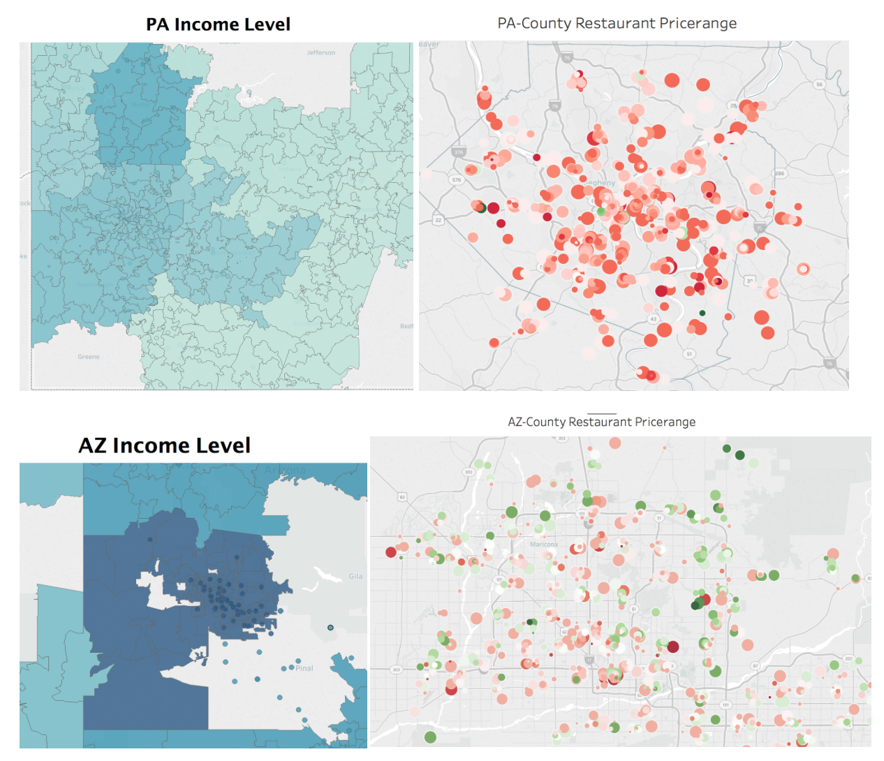 Machine Learning and Visualization with Yelp Dataset