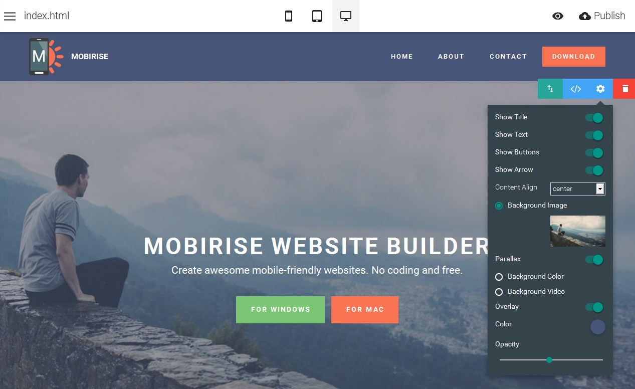 Mobirise Best Offline Website Builder Software By Gad Castro Ang Anluwage Medium