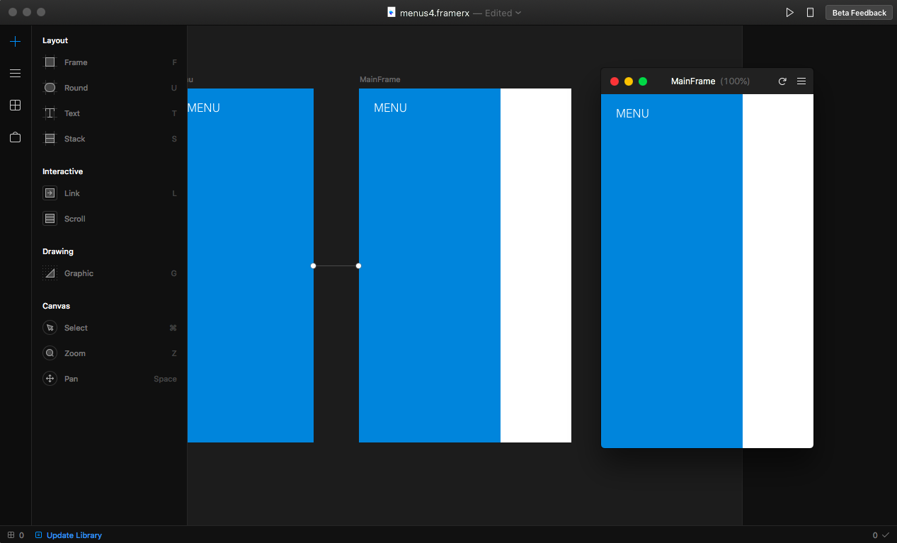 Framer X Walkthrough: Animatable Menu - Prototypr