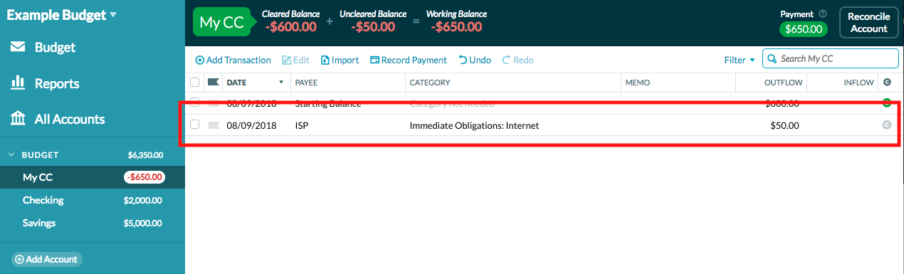 Setting up YNAB when you treat credit cards like debit cards