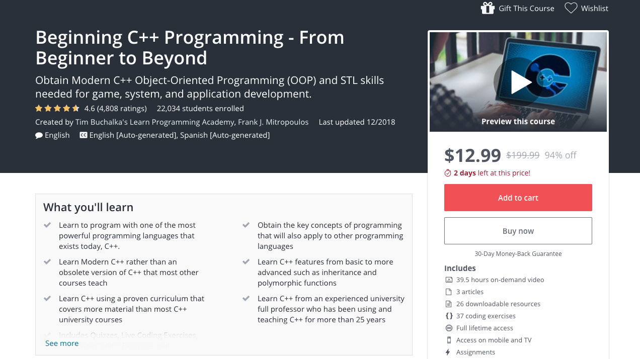5 Best Udemy Courses for Learning Software Development in 2019