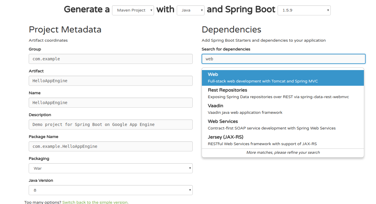 Getting started with Google App Engine and Spring Boot in 5