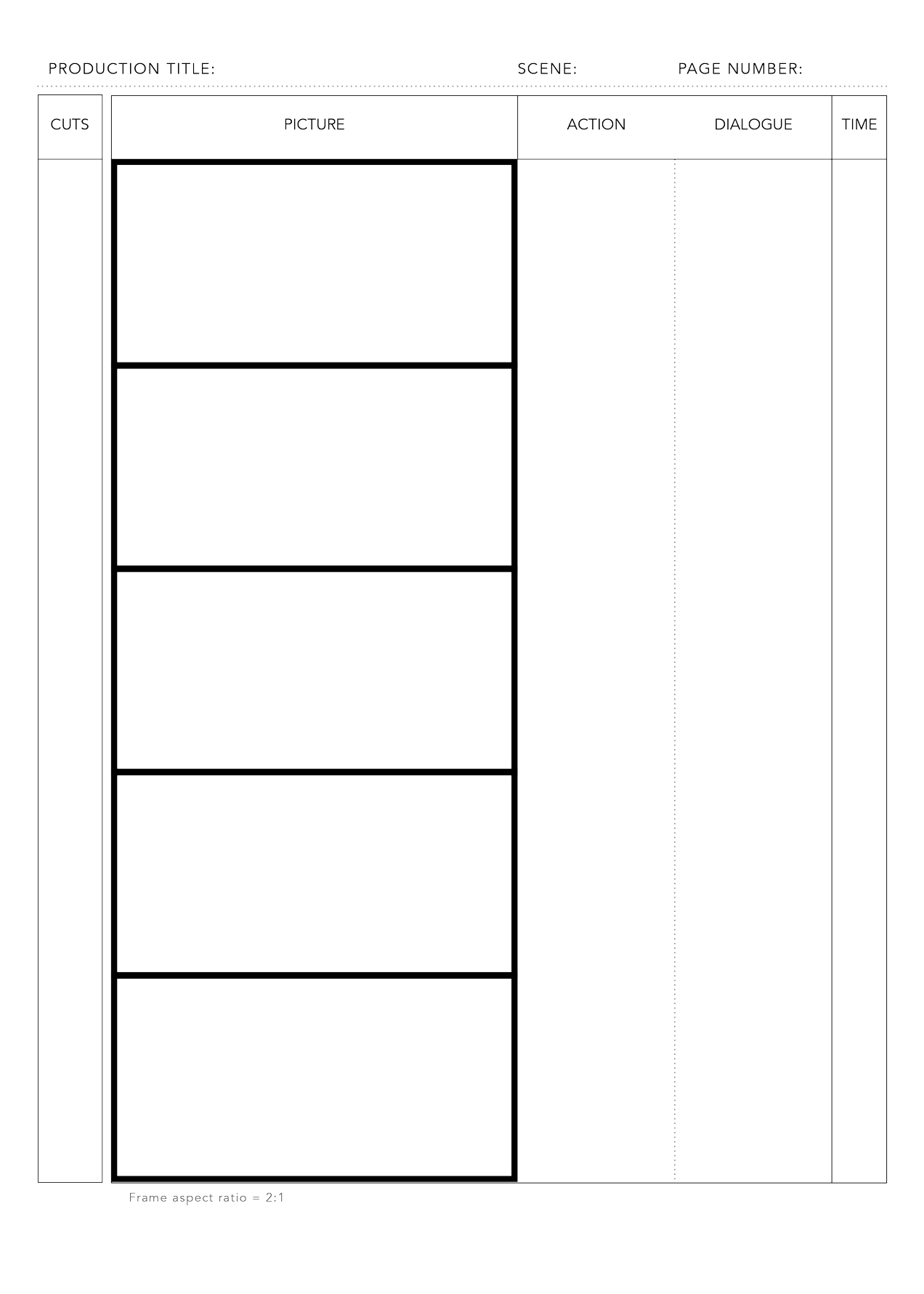 photograph about Printable Storyboard named Totally free PDF Storyboard Templates - Movie Storyboards - Medium