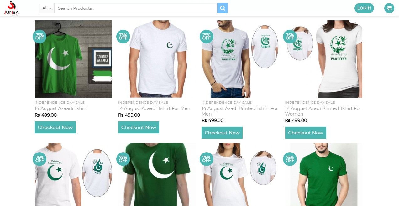 "14th August ""Azadi Sale"" by Leading Online Store Juniba pk"