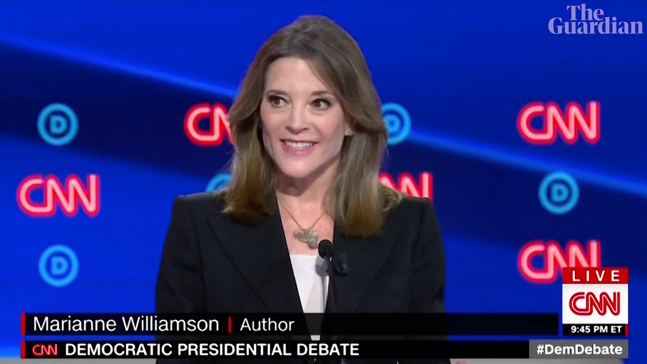 Marianne Williamson at the second Democratic debates