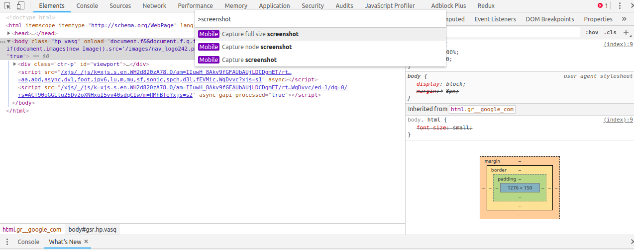 Winning with Chrome DevTools: How to Capture Full Page