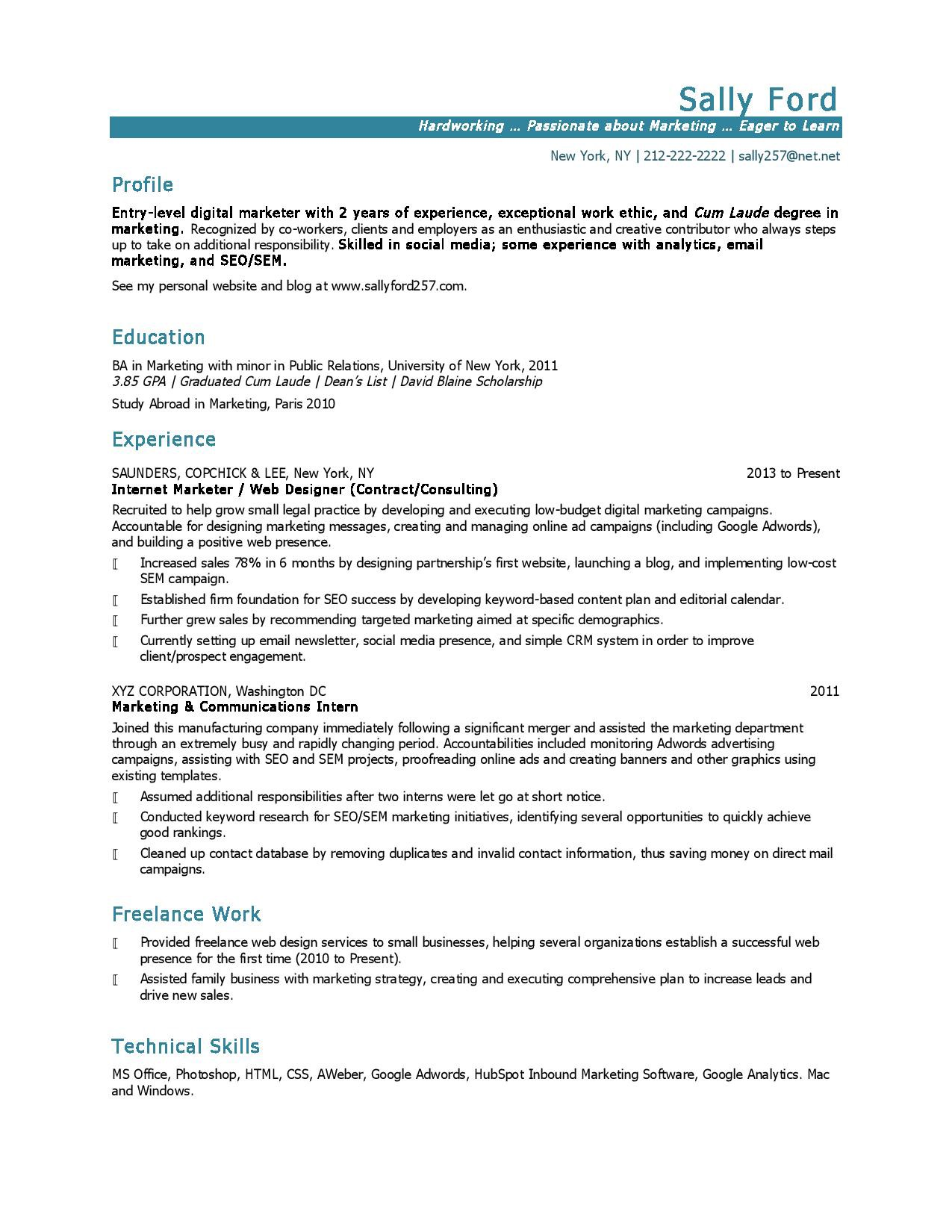 10 Marketing Resume Samples Hiring Managers Will Notice By