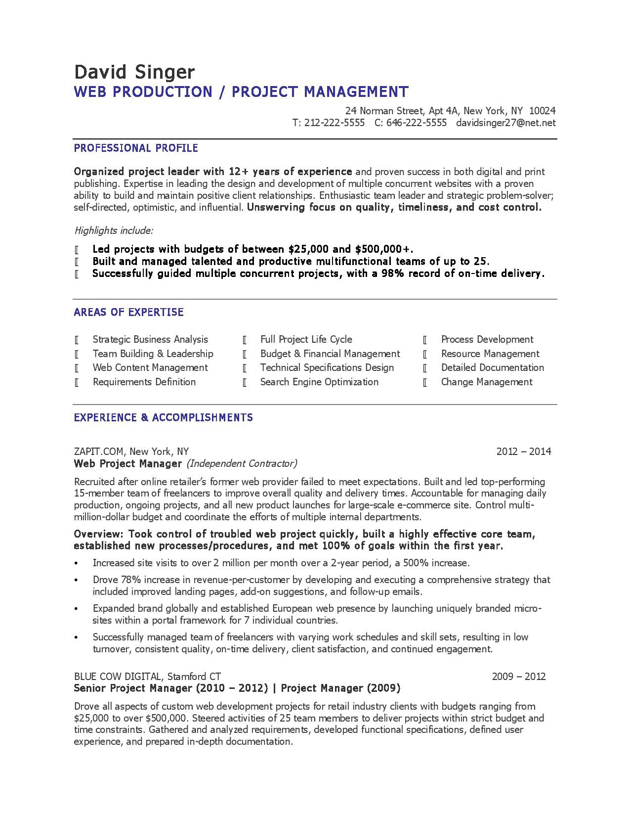 on doent control resume format 2016 project coordinator