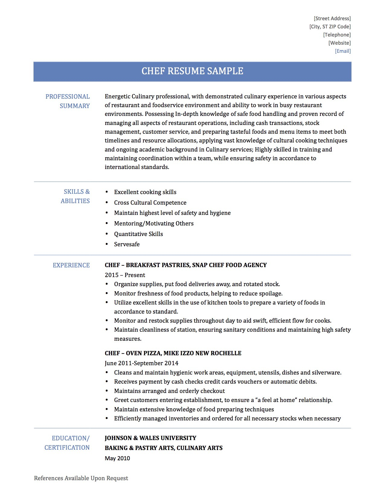 How To Write A Chef Resume Online Resume Builders Medium