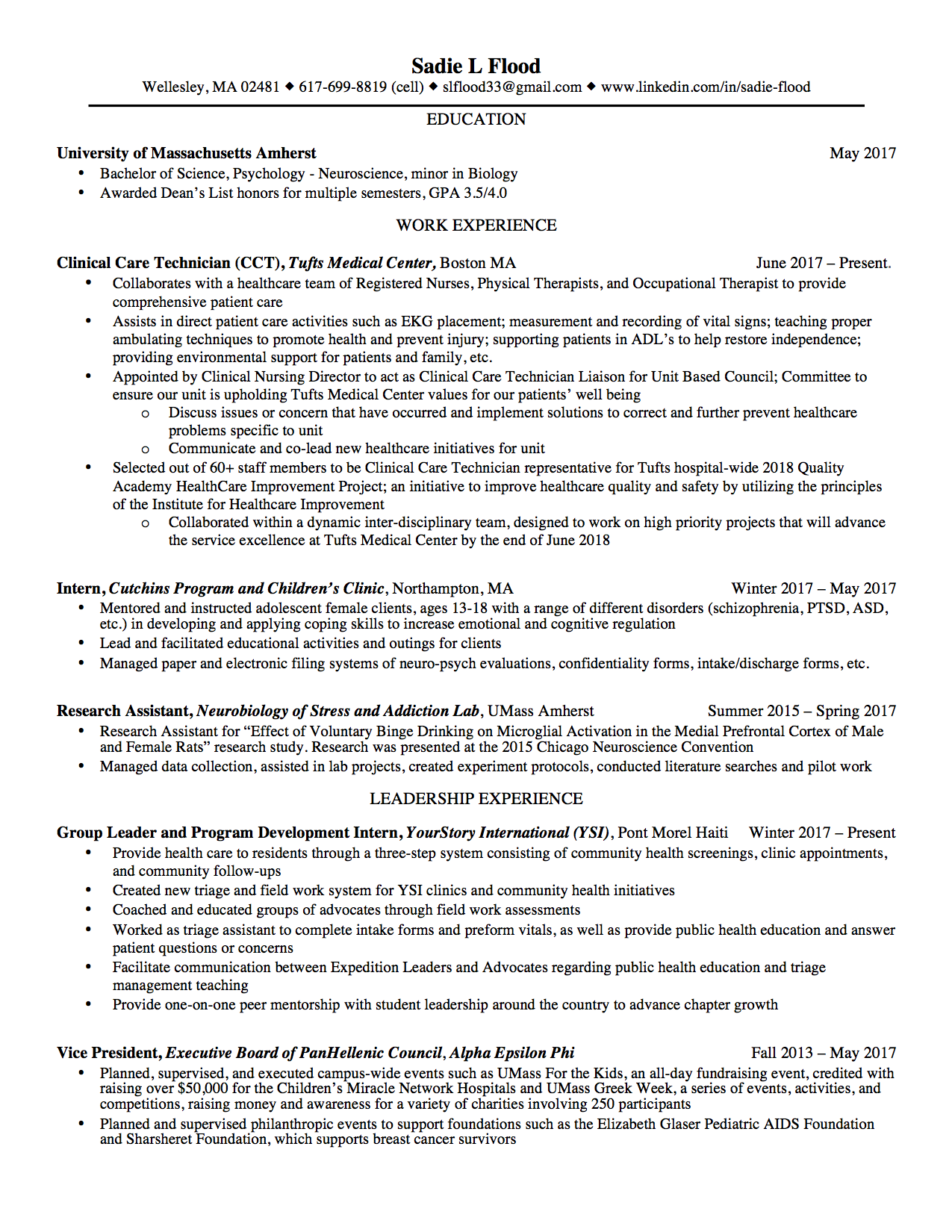 Resume Revamp Project