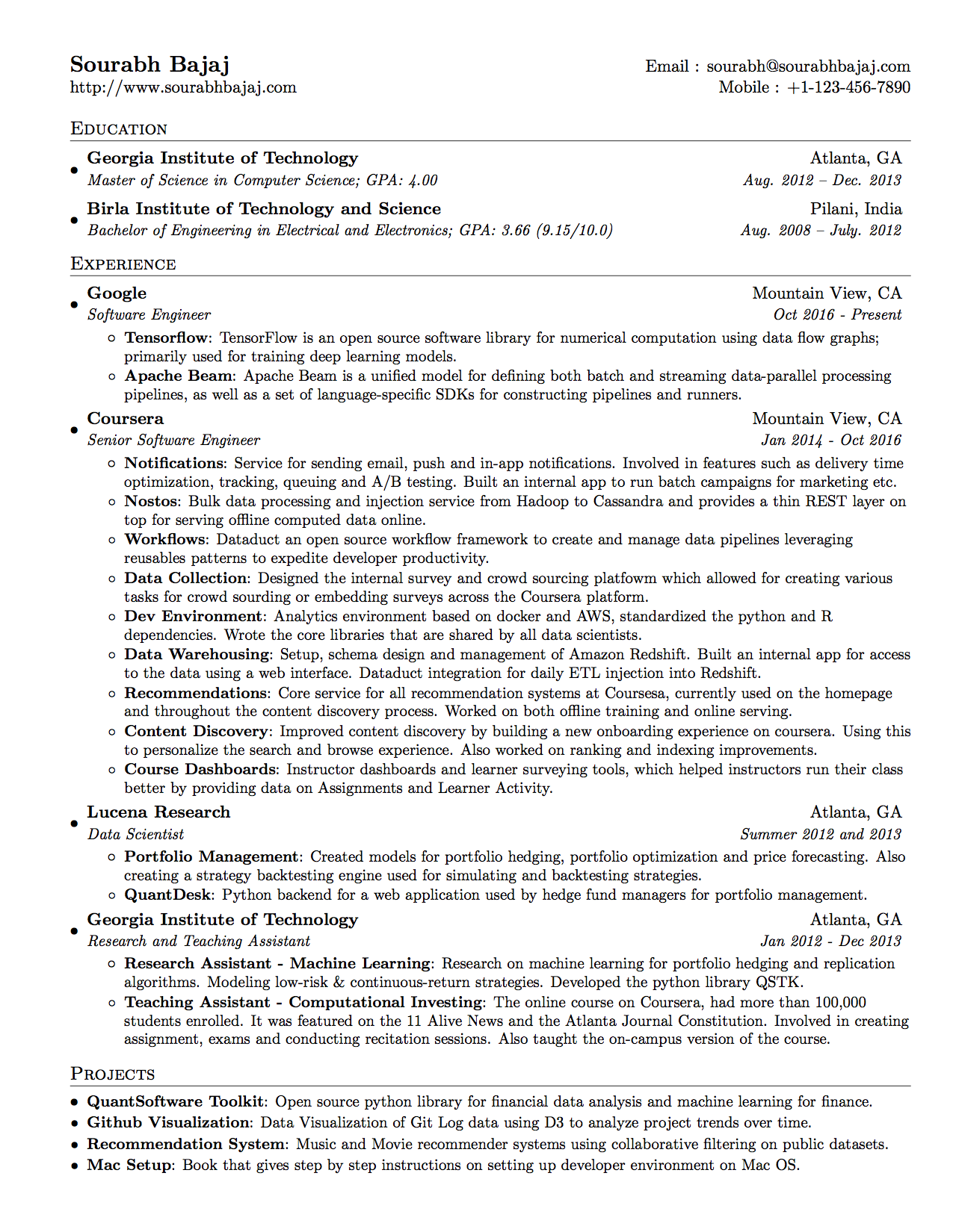 Tips On Building A Data Scientist S Resume Michael L Peng