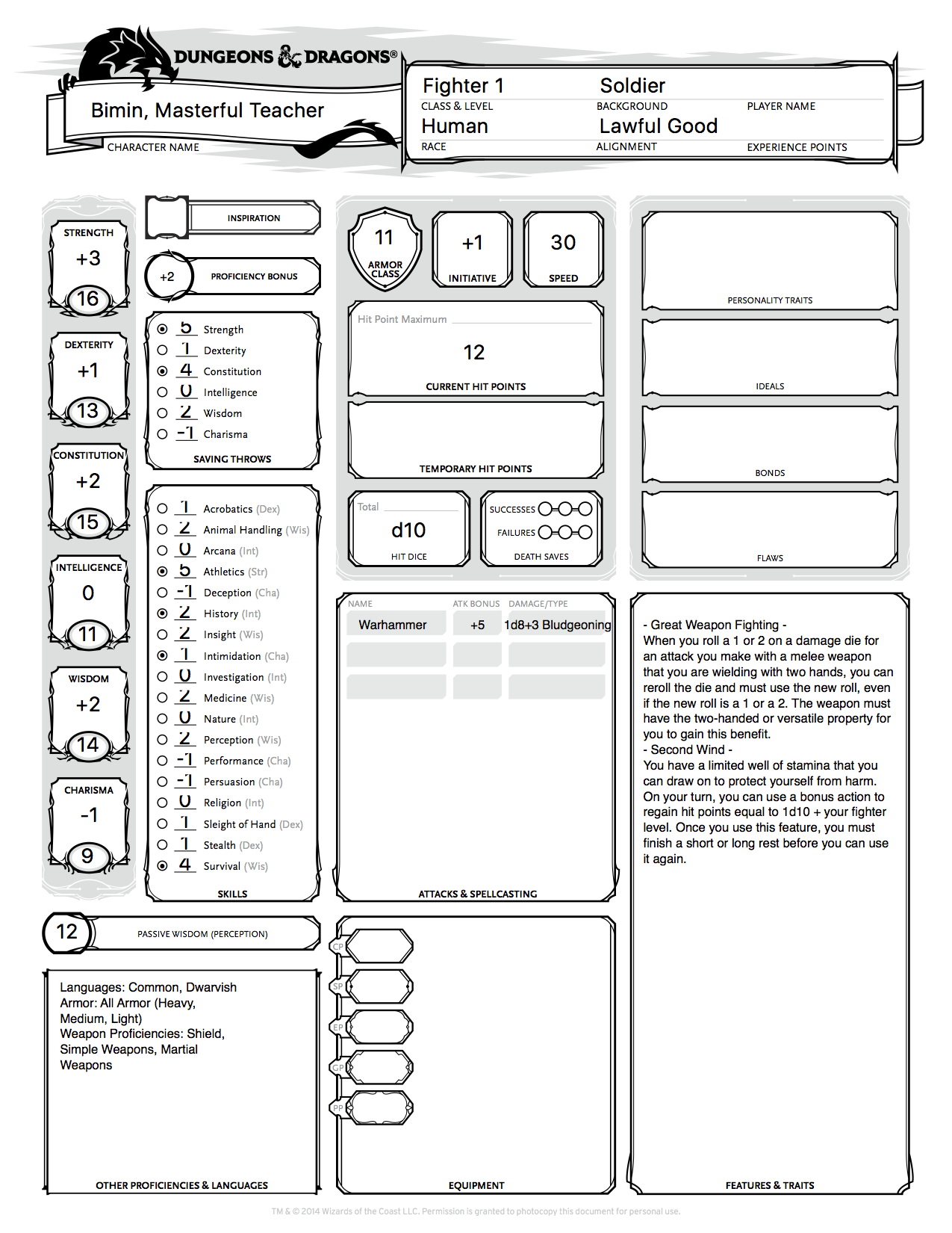 """basic dungeons and dragons character sheet hound of fortune"""" character sheets for dungeons & dragons"""