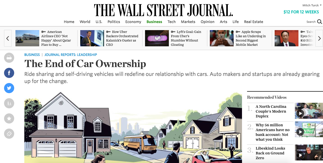 "I've Responded To All 347 Comments On WSJ's ""End Of Car"
