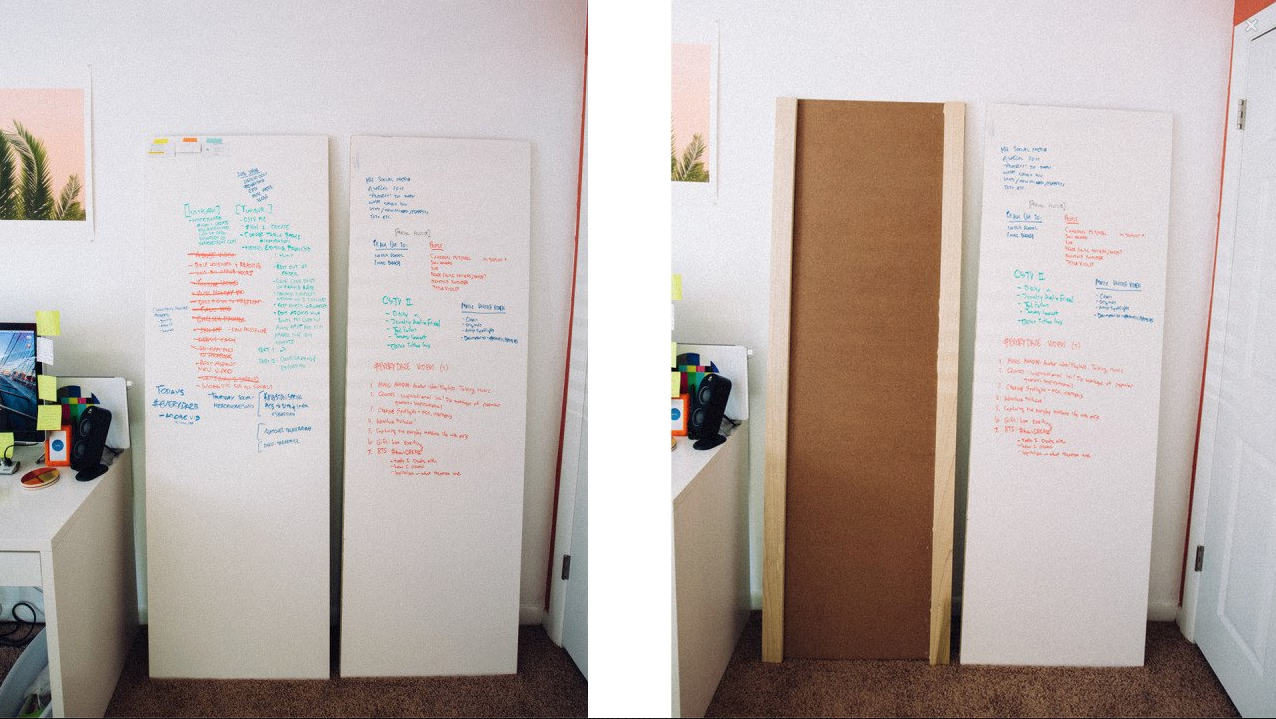 HOW TO MAKE TALL DRY ERASE BOARDS FOR $50 - Sara Dietschy