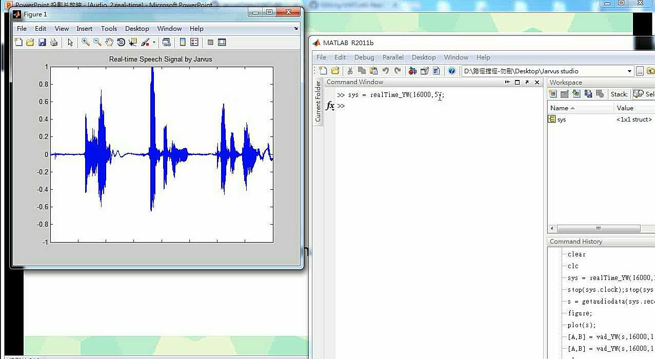 Real time plot audio wave by speaking to the microphone by