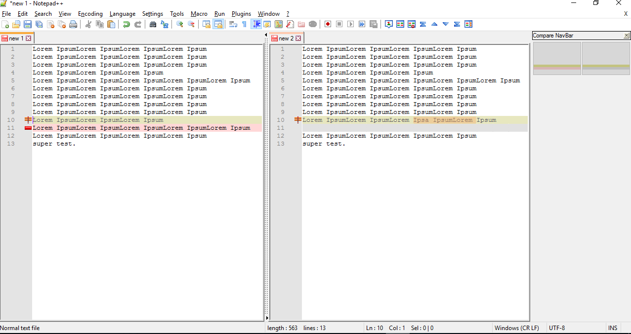 Compare, sort, and delete duplicate lines in Notepad ++