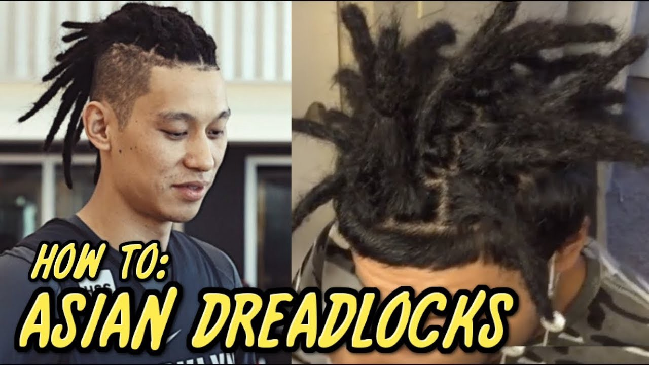 """Photo of an Asian person with a caption """"How to: Asian Dreadlocks"""""""