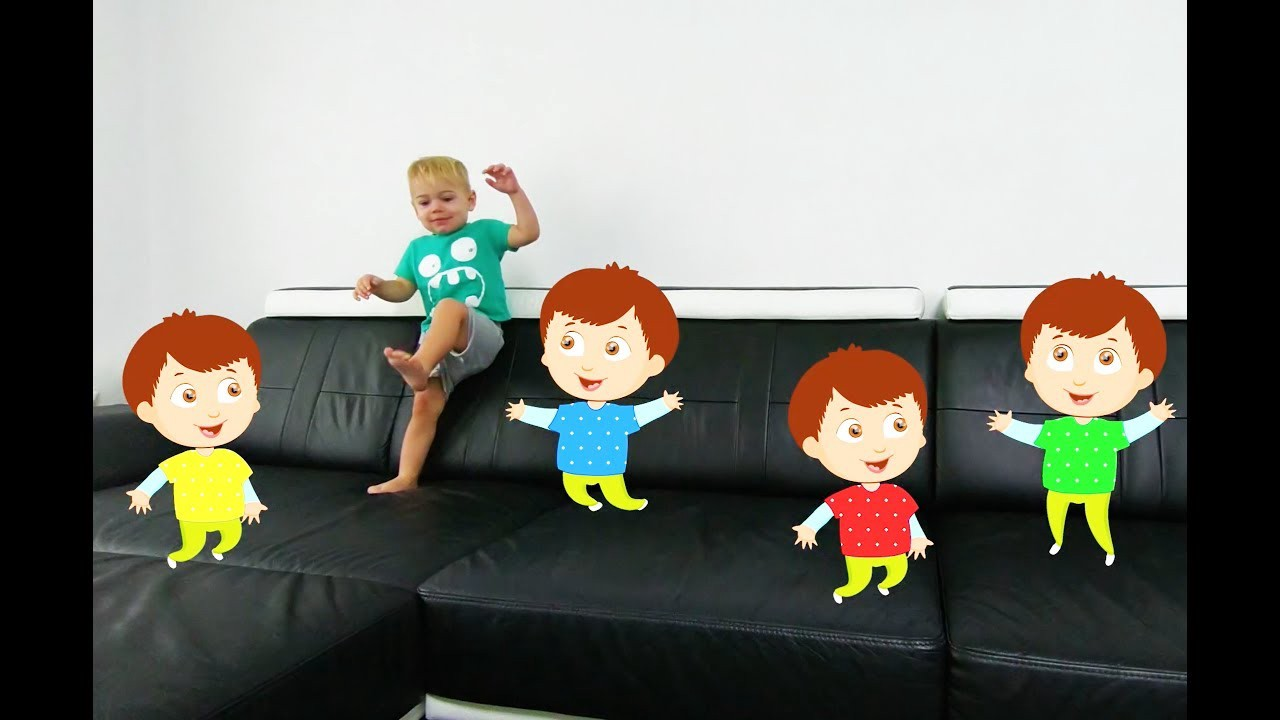 Five Bad Baby Jumping on the Bed, Baby Nursery Rhymes Song