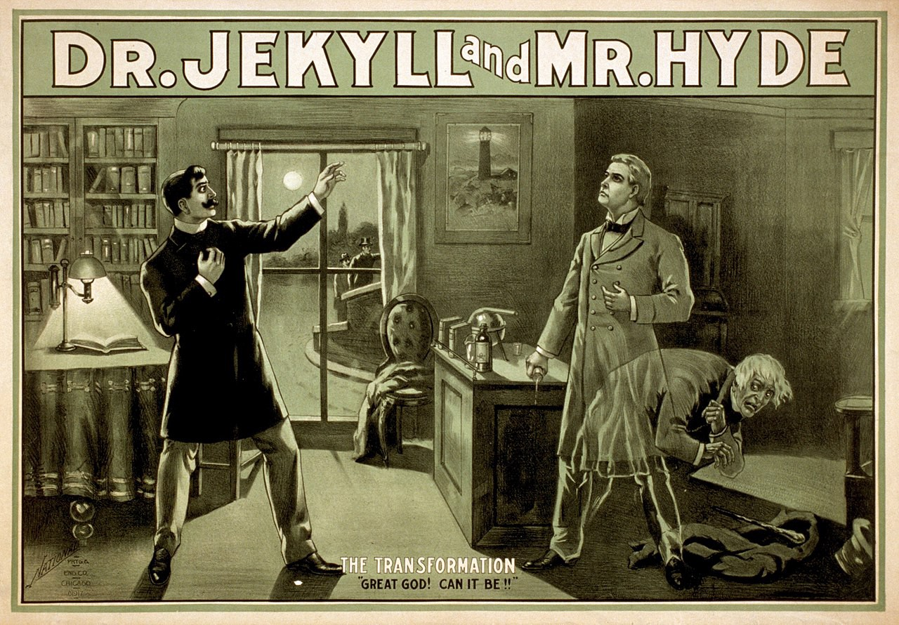 Poster depicting Dr. Jekyll and Mr. Hyde