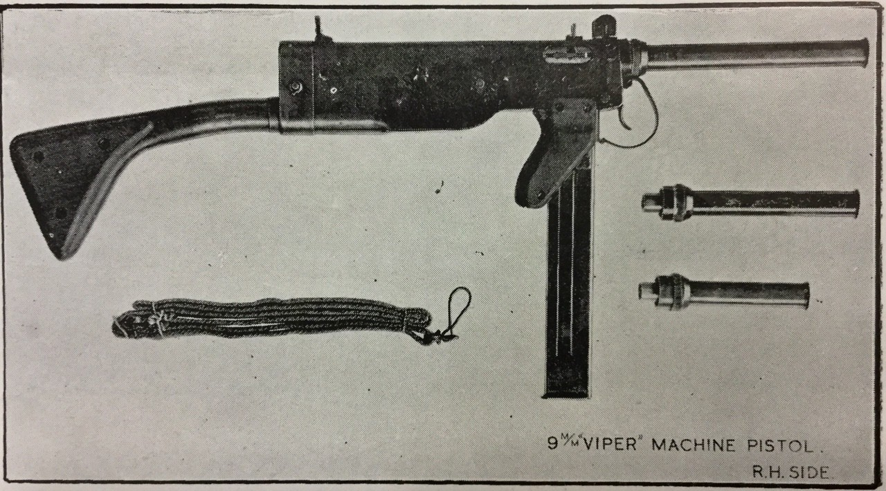 The British Viper Submachine Gun Spit Bullets Like, Well, a