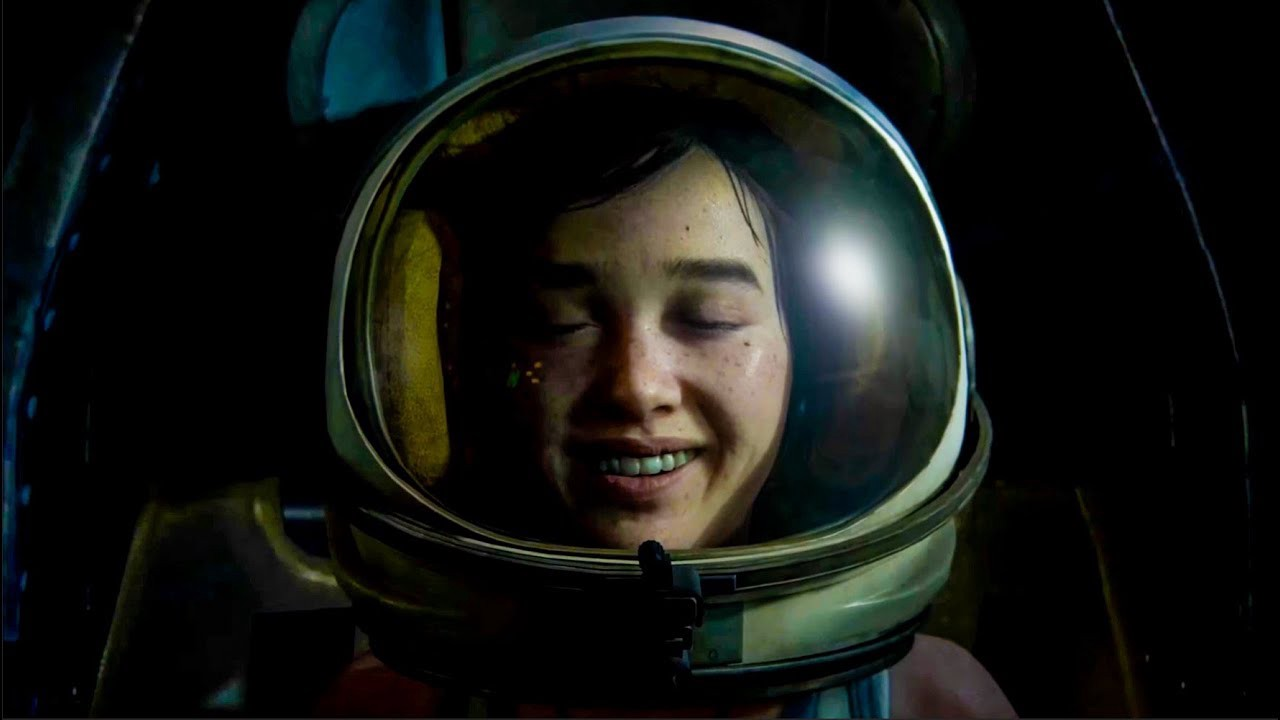 Ellie in The Last of Us Part II wears a space helmet and dreams of going to space