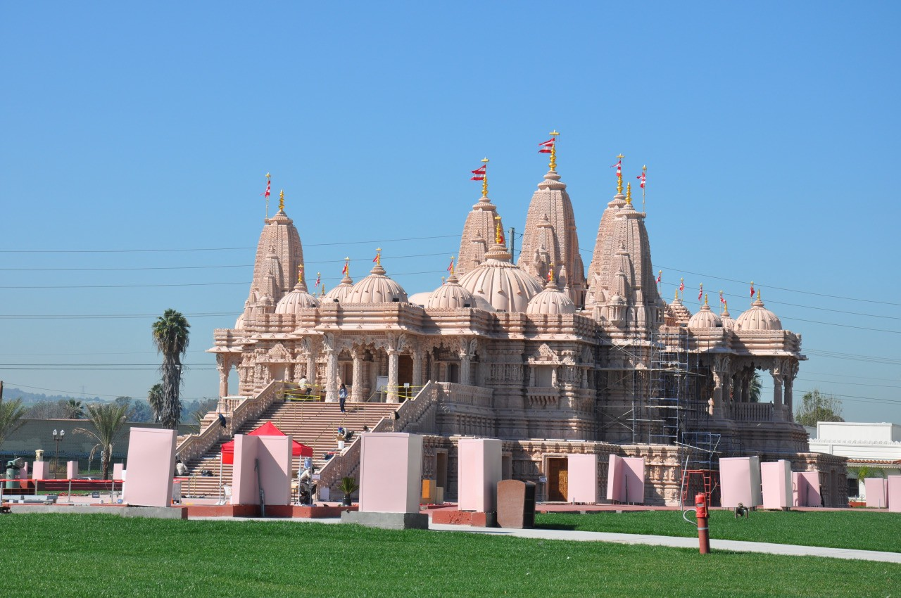 It is a $100 million Hindu temple recently built near