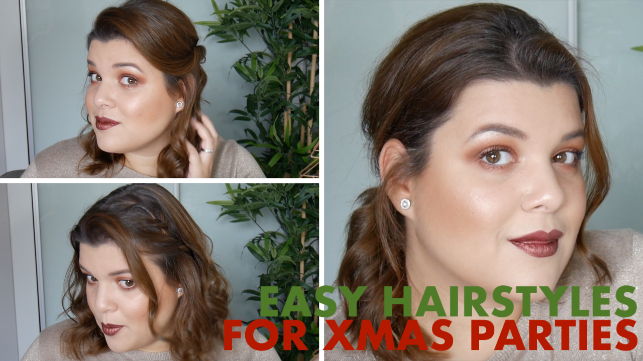 Christmas Hairstyles Easy.3 Easy And Quick Hairstyles For Christmas Parties Ana