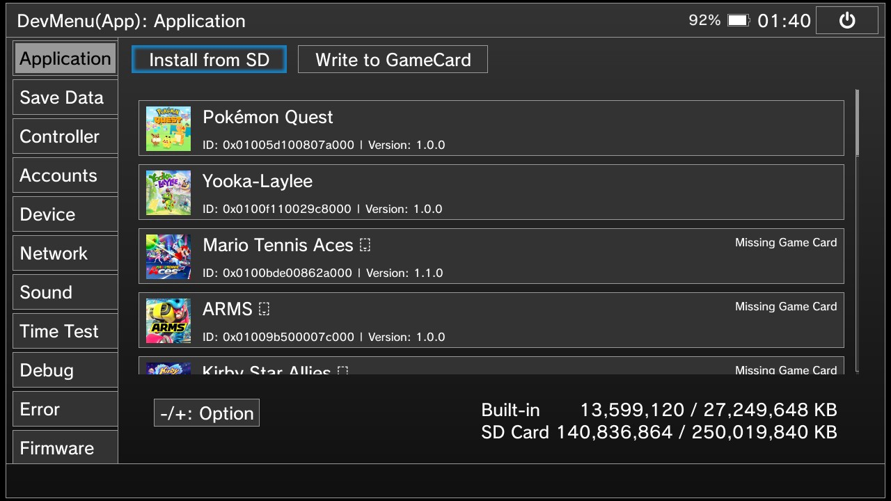 How to play eshop game in NSP format by Xecuter SX OS V1 3?