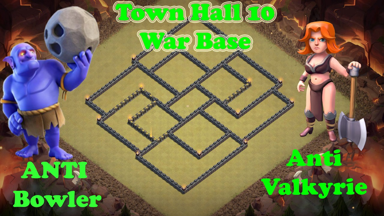 """Clash of Clans (TH10) """"Town Hall 10 War Base"""" Bomb Tower"""