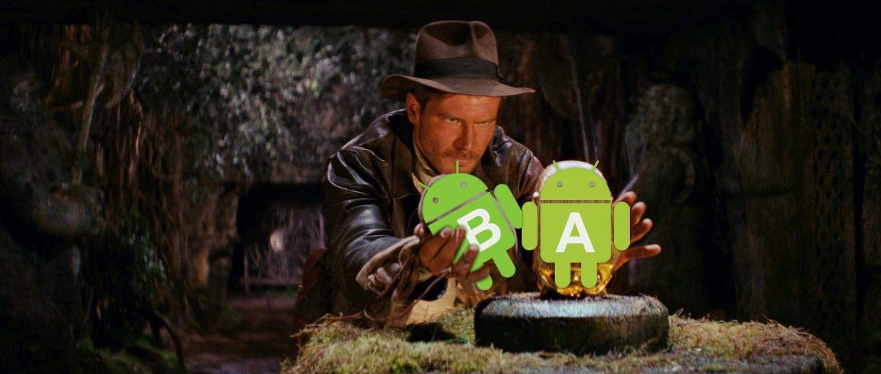 Our fan art for Android Engineers who also like movies about Indiana Jones