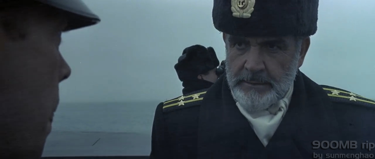 Russian submarine officer scowling