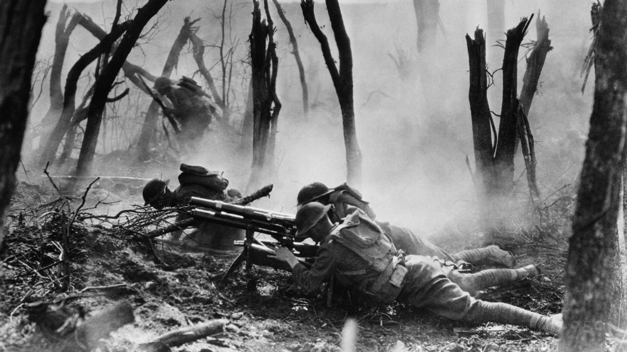 US Soldiers fight in the Meuse-Argonne Offensive
