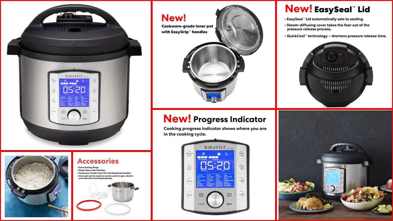 Steamer Instant Pot Duo Evo Plus 9 In 1 Electric Pressure Cooker Bake Rice Cooker Easy