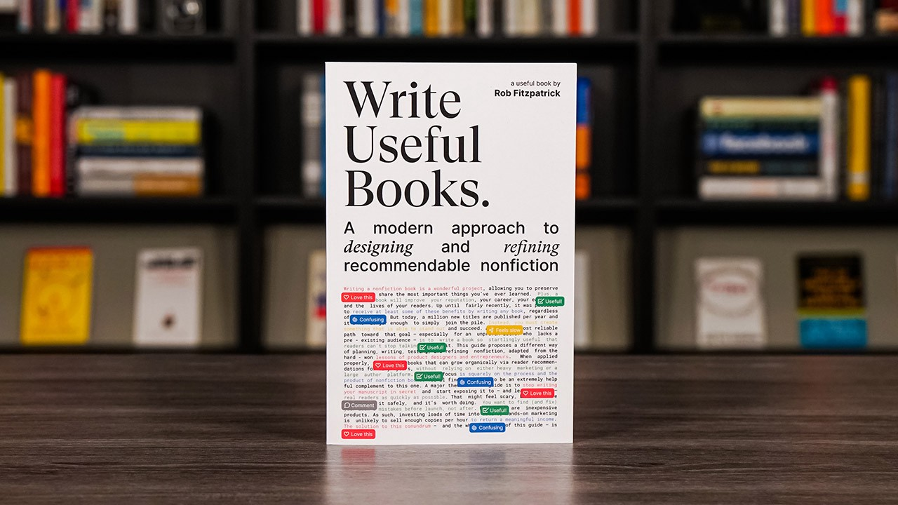 Write Useful Books by Rob Fitzpatrick book summary and review