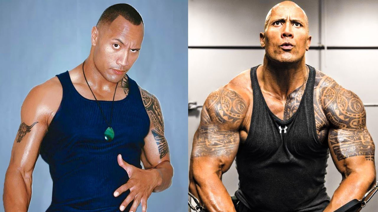 The Rock's transformation