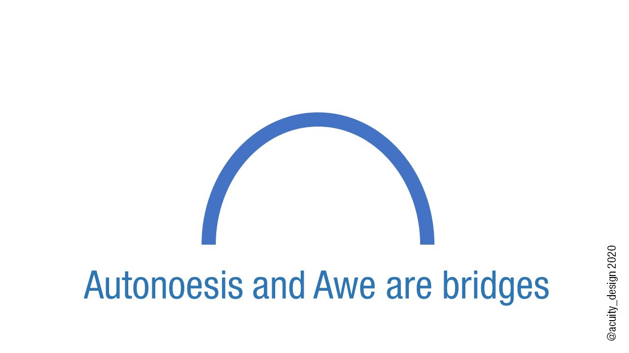 Autonoesis and Awe are bridges